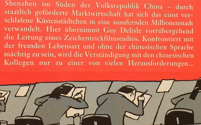 Rückumschlag des Buches Shenzhen von Guy Delisle