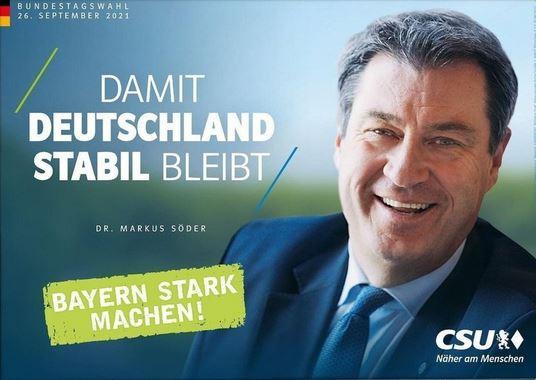 CSU-Plakat mit Markus Söder